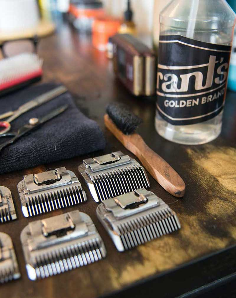 Barber tools and Grants Golden Product